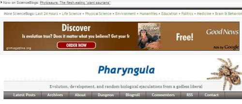 Pharyngula Creation Evolution
