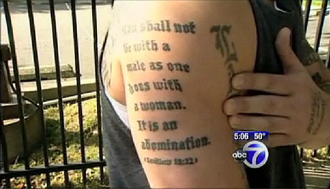 anti gay tattoo