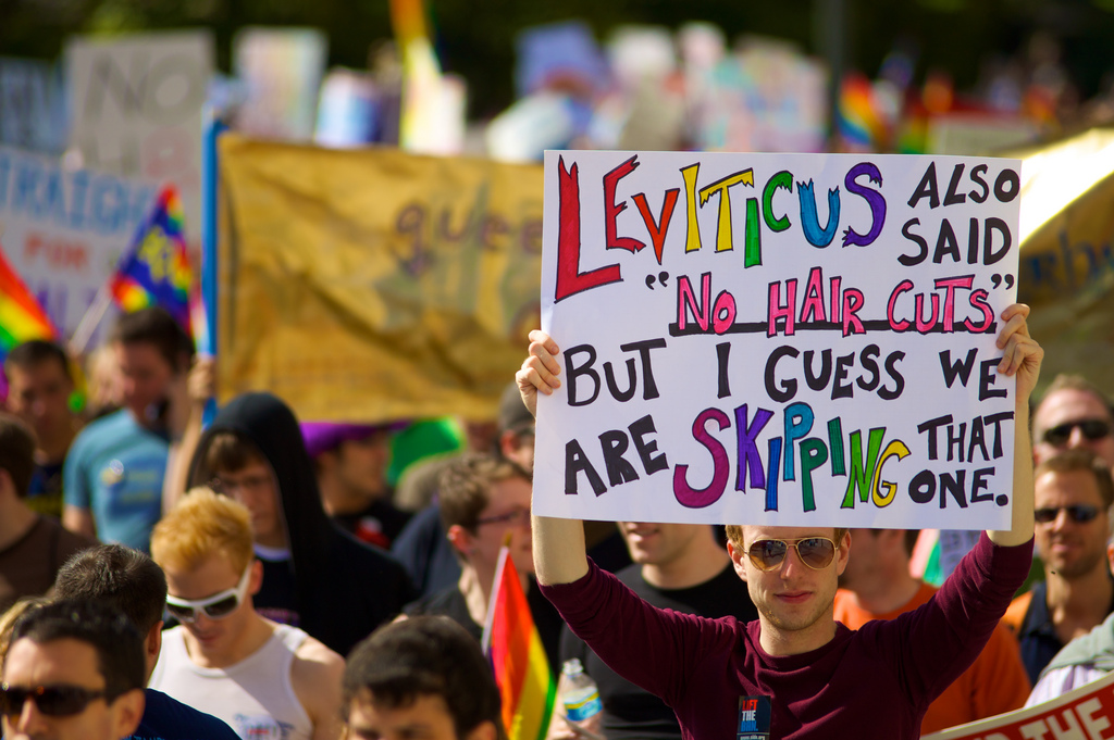 leviticus gay. Another example (like my previous post about tattoos) of how