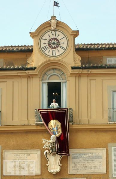 The Pope at his summer palace, Castel Gandolfo
